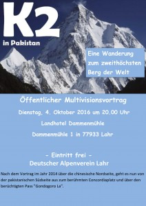 Plakat Bertram Rueb Vortrag K 2